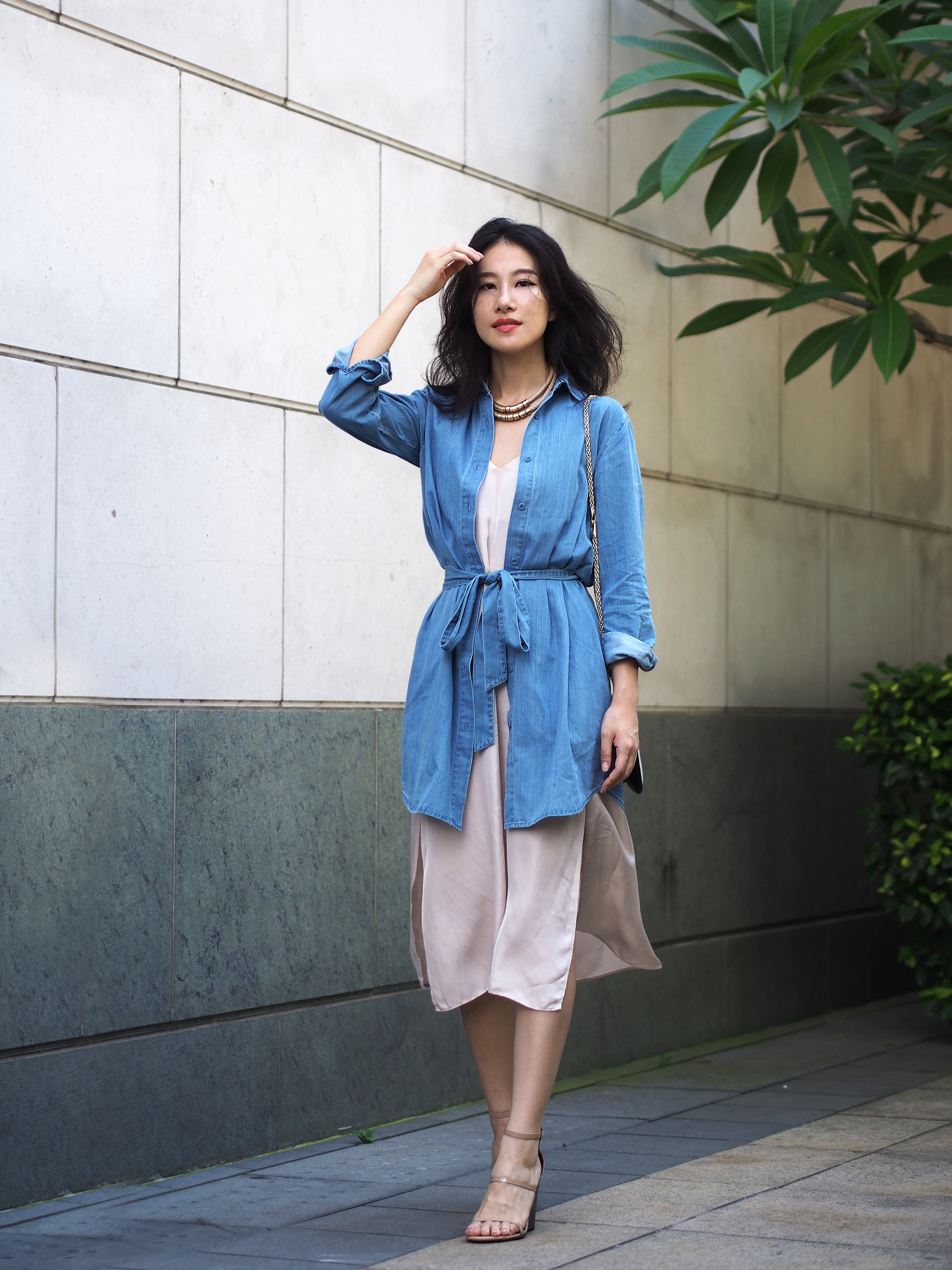 Layering shirts over dresses